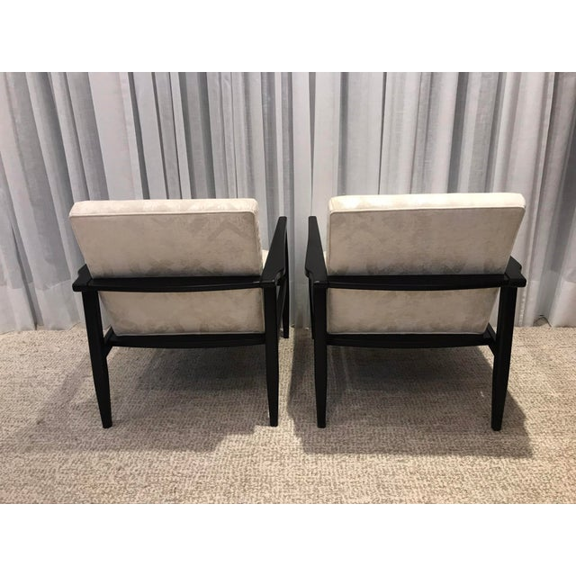 Black Mid-Century Style Chairs by Arhaus - a Pair For Sale - Image 8 of 13