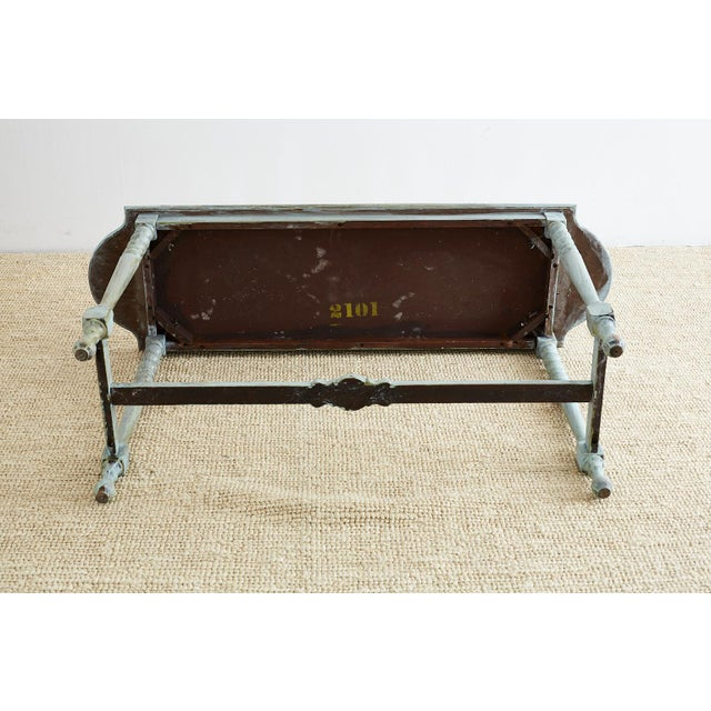 Robin's Egg Blue Painted Console Sofa Table For Sale - Image 12 of 13