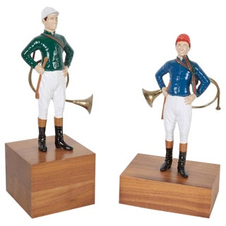 21 Club Enamel Painted Tabletop Figurines - a Pair For Sale