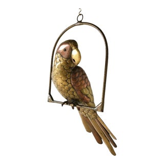 Sergio Bustamante Parrot on an Arch Stand 1960s For Sale