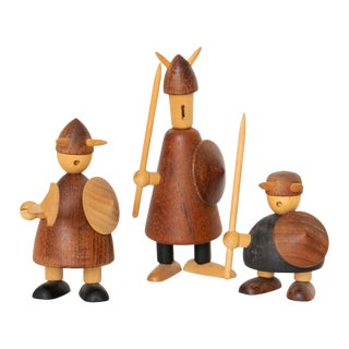 Jacob Jensen Scandinavian Miniature Danish Vikings, 1950s For Sale