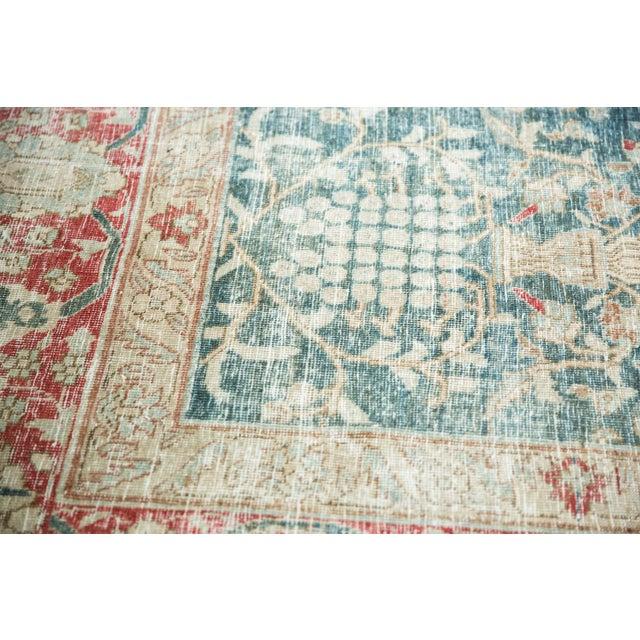"""Forest Green Vintage Distressed Tabriz Carpet - 8'1"""" X 11'4"""" For Sale - Image 8 of 13"""