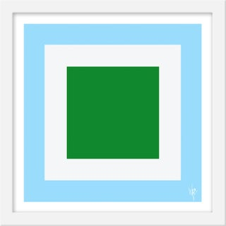 """Small """"Squared V"""" Print by Wendy Concannon, 15"""" X 15"""" For Sale"""