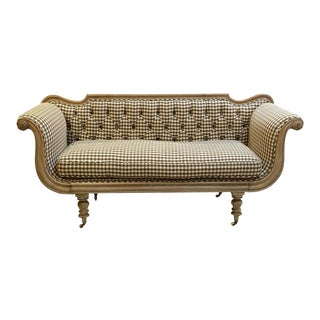 Swedish Regency Sofa With Upholstered Seating For Sale