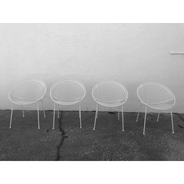 Salterini Tempestini Salterini 4 Radar Hoop Chairs and Cocktail Table - Set of 5 For Sale - Image 4 of 13