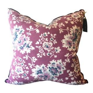 Vintage Floral Plum Pillow For Sale