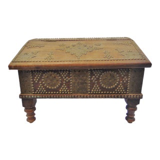 19th Century Sheraton Walnut Brass Mounted Bible Box For Sale