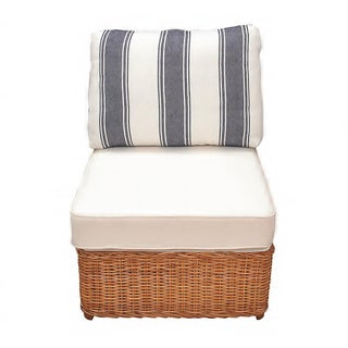 Vintage Wicker Lounge Chair & Matching Ottoman Preview