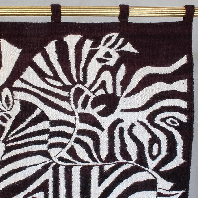 Large African Mohair Zebra Wall Hanging - Image 5 of 11