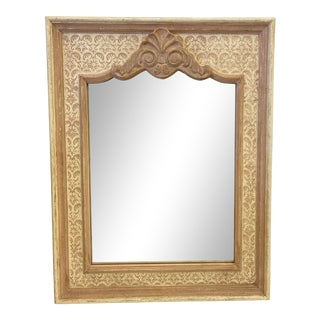 Venetian Italian Coral Hand Painted Mirror For Sale