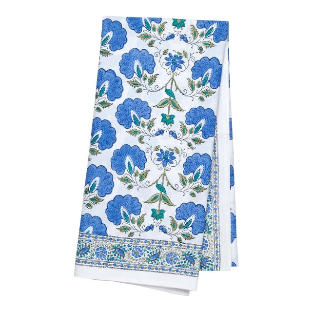 Janvi Tablecloth II, 6-seat table - Blue For Sale