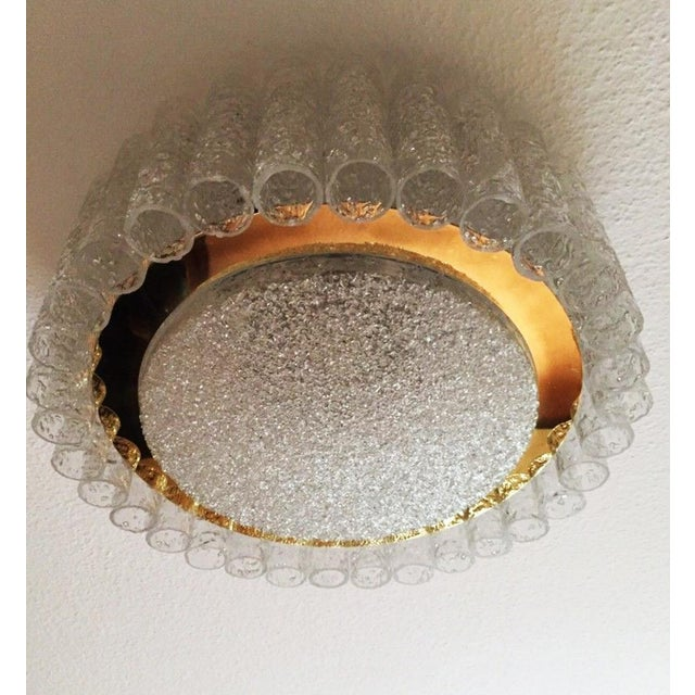 Gold Mid-Century Glass Tube Chandelier by Doria Lichtenwerken For Sale - Image 8 of 11