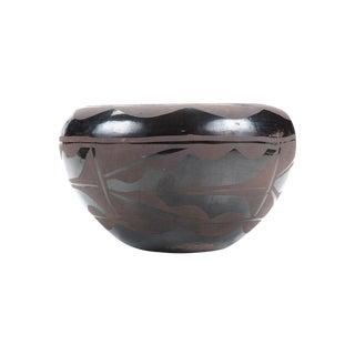 Vintage Native American Blackware Pueblo Bowl For Sale