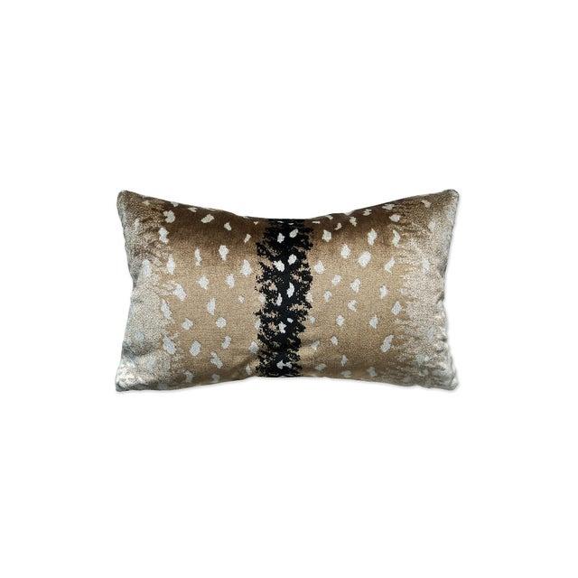 Transitional Scalamandre Antelope Lumbar Pillow, Natural For Sale - Image 3 of 3