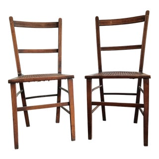 Mahogany Cane Chairs - A Pair