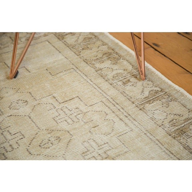 "Vintage Distressed Oushak Rug Runner - 3'1"" x 6'8"" - Image 2 of 9"