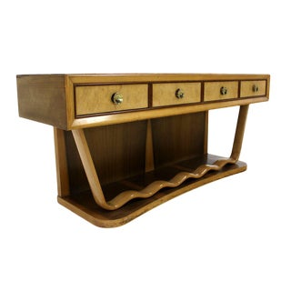 Mid Century Italian Modern Console Table Petit Credenza Attributed to Borsani For Sale