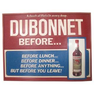 French Midcentury Dubonnet Bar Mat C.1950 For Sale