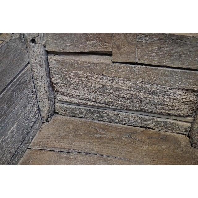 Antique Carved Oak Flemish Coffer Blanket Trunk For Sale - Image 11 of 12