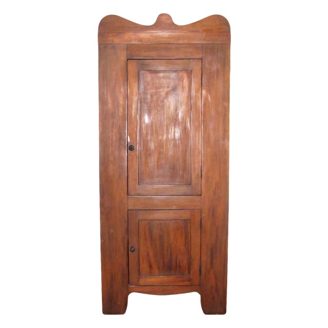 Early American Cherry Wood Corner Cabinet For Sale