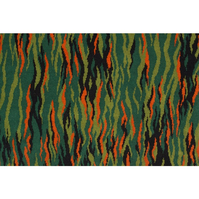 Green Mid-Century Modern Rug - 2′3″ × 4′6″ - Image 2 of 3