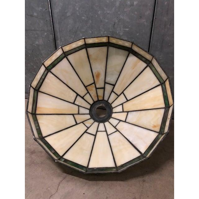 Mission Slag Arts & Crafts Spectrum Glass Lamp Shade For Sale - Image 9 of 12