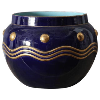 French Faience Cachepot For Sale