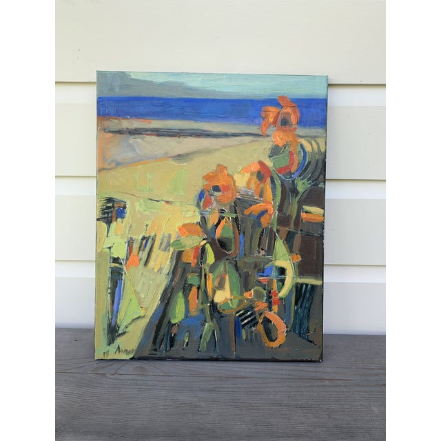 """Abstract Oil """"Island Flowers"""" by Anne Darby Parker Landscape at daylight, 16x20"""