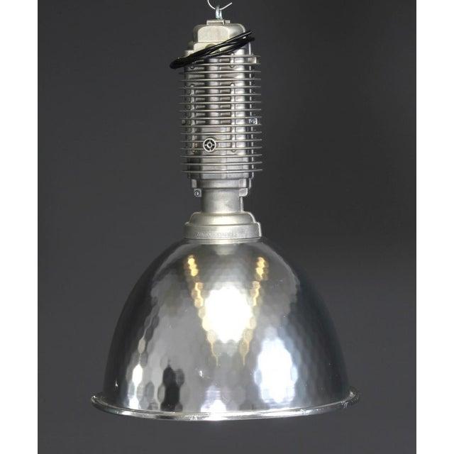 Silver Large Vintage Industrial Ceiling Light, 1980 For Sale - Image 8 of 8