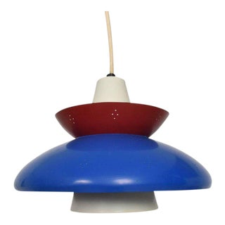 American Mid-Century Modern Pendant Light Sculptural Shape For Sale