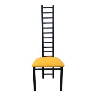 1980s Post Modern High Ladder Back Chair