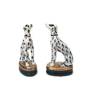 Vintage Staffordshire Dalmatian Dogs Style Gilt Statues - a Pair Preview