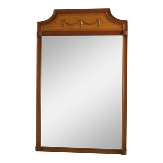 Kittinger Satinwood and Mahogany Regency Mirror