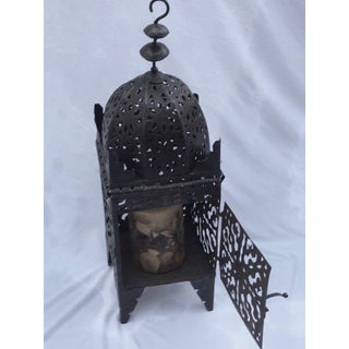 1960s Moroccan Iron Metal Work Candle Lantern Preview