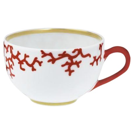 Raynaud Cristobal Limoges Porcelain, Coral Teacups - Set of 8 ( 16 Available ) - Image 1 of 8