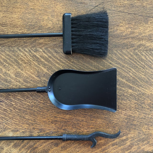 1960s Mid-Century Modern Fireplace Tools-Set Of 4 For Sale - Image 4 of 10