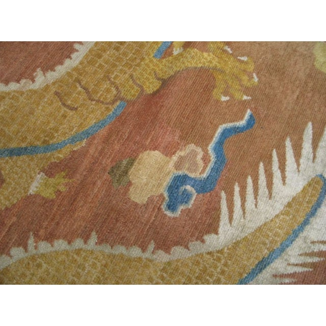 Mid 18th Century Antique Ningxia Pillar Rug For Sale In New York - Image 6 of 9