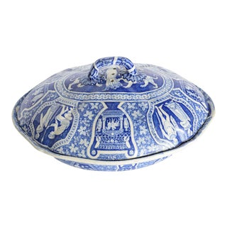 "Rare Spode ""Greek"" Covered Casserole, England, Early 19th Century For Sale"