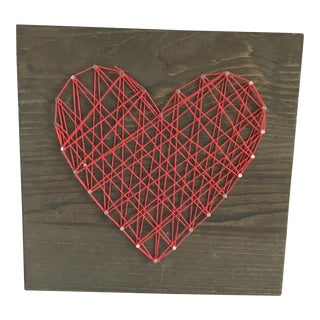 """Heart Strings"" String Art Heart Wall Decor For Sale"