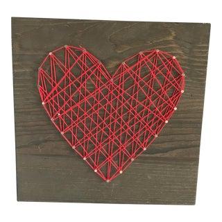 """Heart Strings"" String Art Heart Wall Decor"