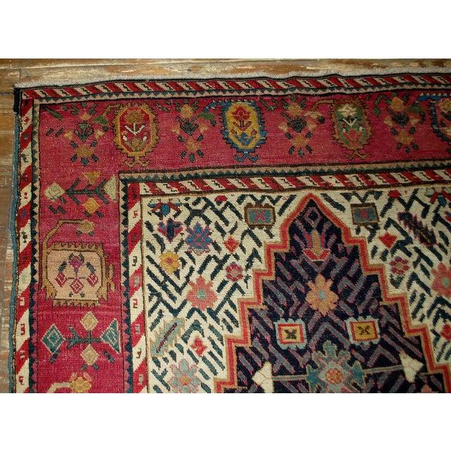 1880s Antique Hand Made Caucasian Karabagh Rug- 4′6″ × 11′7″ For Sale - Image 9 of 10