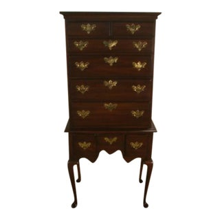 Davis Queen Anne Solid Cherry Lingerie Chest For Sale