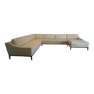 Restoration Hardware Italia Slope Arm Sectional For Sale