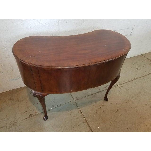 Wood Waldorf Astoria Henredon Kidney Shaped Desk For Sale - Image 7 of 7