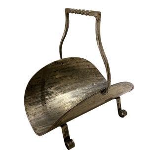 Brushed Steel Log Holder For Sale