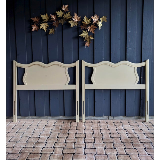 Boho Chic French Provincial Headboards, a Pair For Sale - Image 3 of 7