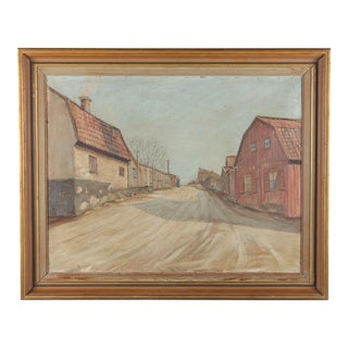 Helmi Sjostand Quiet Swedish Street, Ca.1900 For Sale