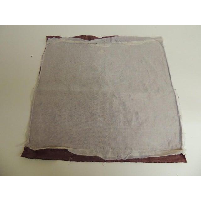 Antique Italian Gold and Burgundy Silk on Silk Velvet Applique Textile Panel For Sale - Image 4 of 5