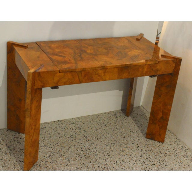 Olive Wood Games Table Backgammon Removable Tray Top Italy 1970s For Sale In West Palm - Image 6 of 13
