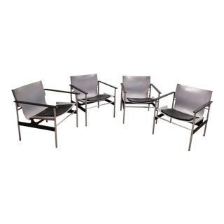 1960 Pollock Sling Lounge Chairs- Set of 4 For Sale